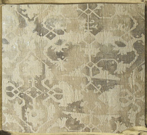 LOTTO Peer Gynt linen printed in grey, taupe and vermeil.